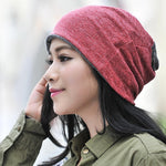 Unisex Casual Solid Scarf Hat