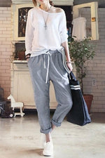 Casual Cotton Harem High Waist Pants