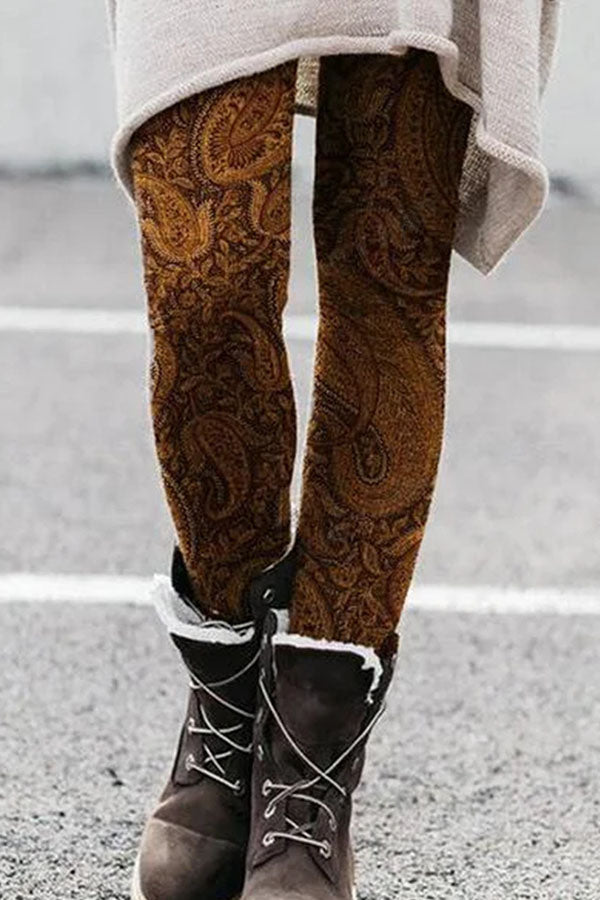 Lady Cashew Print Women Long Pants