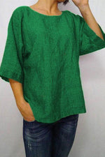 Round Neck Half Sleeves Plain T Shirt