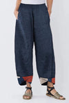Geometrical Print Casual Linen Pants