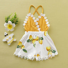 Load image into Gallery viewer, Toddler Girls Lemon Print Romper
