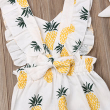 Load image into Gallery viewer, Toddler Girl Ruffle Pineapple Print Jumpsuit & Headband