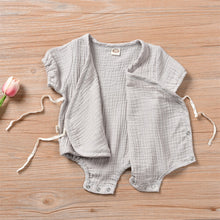 Load image into Gallery viewer, Baby Girl Rib-knit Kimono Bodysuit