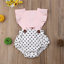 Load image into Gallery viewer, Baby Girl Backless Polka Dot Romper