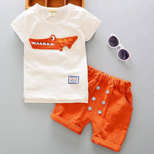 Load image into Gallery viewer, Casual Cartoon Tee & Shorts Set