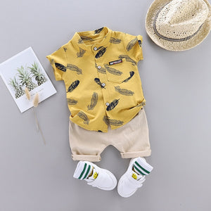 Toddler Boys Tee & Khaki Set