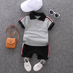 Polo Button Down Tee & Shorts