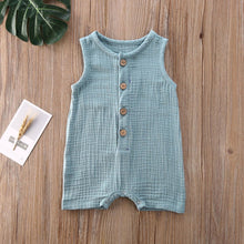 Load image into Gallery viewer, Baby Girl Button Down Jumpsuit