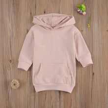 Load image into Gallery viewer, Baby Girl Long Sleeve Hoodie Dress