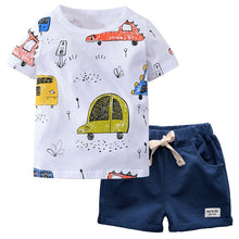 Load image into Gallery viewer, Toddler Boy Cartoon Car Tee and Short Set