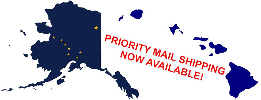 Priority Mail Shipping to Alaska and Hawaii Now Available!