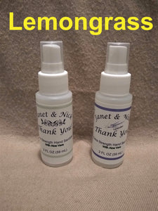 Custom Labeled Hand Sanitizer Wedding Favors, Party Favors (50 Bottles x 2oz) LEMONGRASS