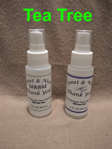 Custom Labeled Hand Sanitizer Wedding Favors, Party Favors (50 Bottles x 2oz) TEA TREE