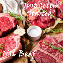 "Load image into Gallery viewer, ""Just Gettin' Started"" pkg - 1/16 Beef"