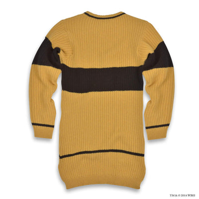Hufflepuff Quidditch Knitted Adult Jumper back