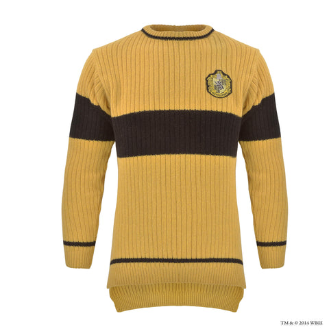 Hufflepuff Quidditch Knitted Adult Jumper