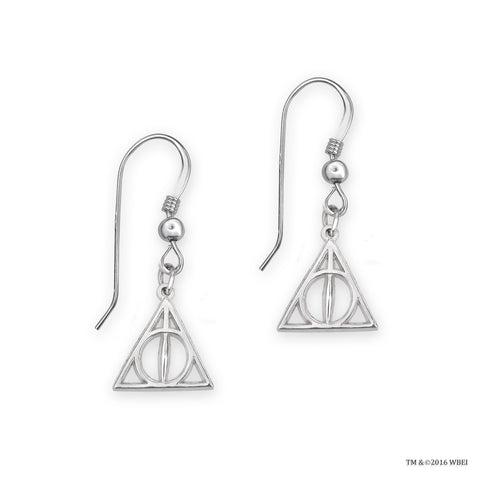 Deathly Hallows Sterling Silver Earrings