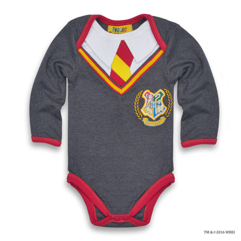 Hogwarts™ Long-Sleeved Baby Body Suit front