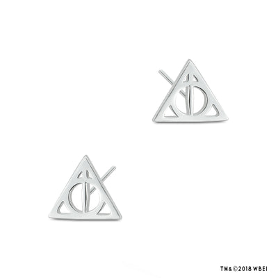 Deathly Hallows Sterling Silver Stud Earrings