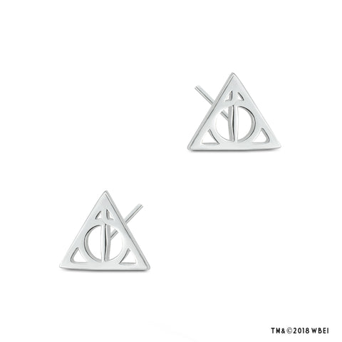 Deathly Hallows™ Sterling Silver Stud Earrings