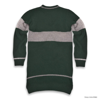 Slytherin Quidditch Knitted Adult Jumper back