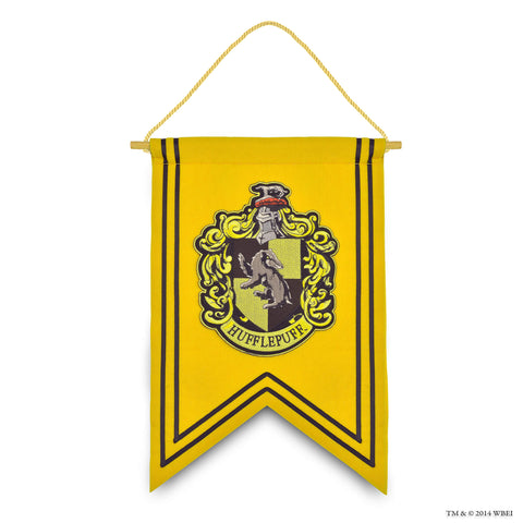 Hufflepuff Crest Embroidered Banner