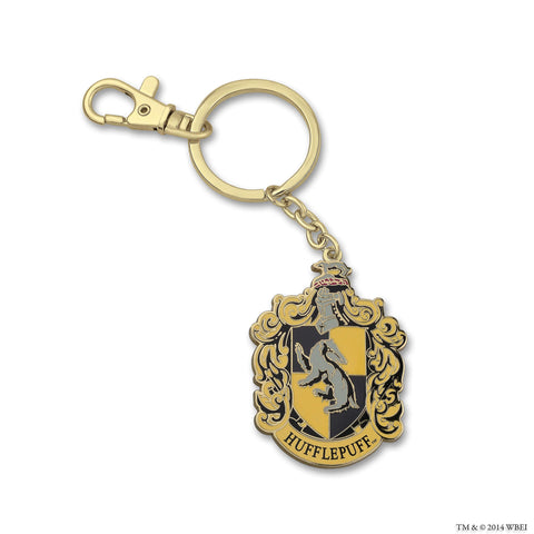 Hufflepuff Crest Medallion Key Chain