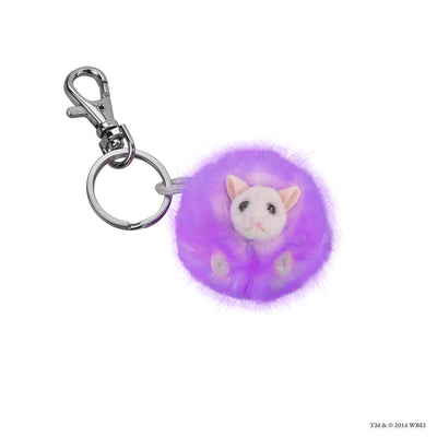 Purple Pygmy Puff Key Chain
