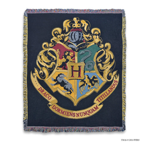Hogwarts Crest Woven Throw
