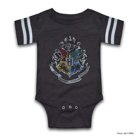 Hogwarts Short-Sleeved Baby Body Suit front