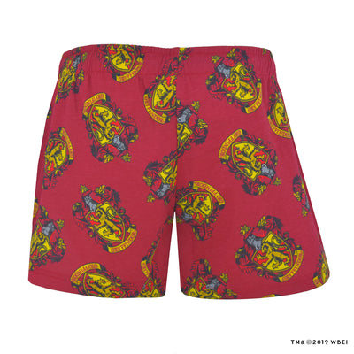 Gryffindor Crest Lounge Shorts back