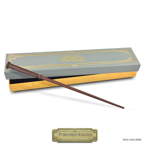 porpentina goldstein collectible wand and box