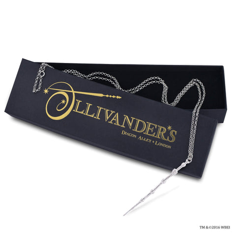 Dumbledore Wand Necklace in the box