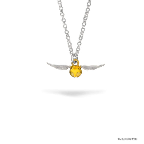 Golden Snitch Sterling Silver Necklace
