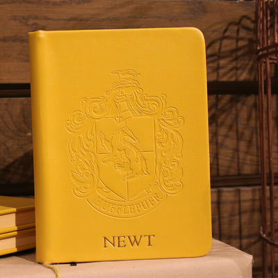 Personalised Hufflepuff Crest Embossed Journal