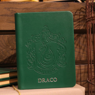 Personalised Slytherin Crest Embossed Journal