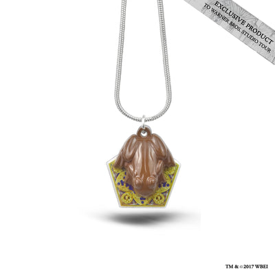 Chocolate Frog Charm Necklace