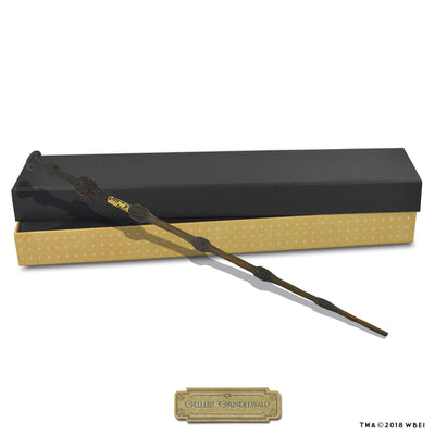 gellert grindelwald collectible wand and box