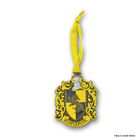 Hufflepuff Crest Metal Ornament