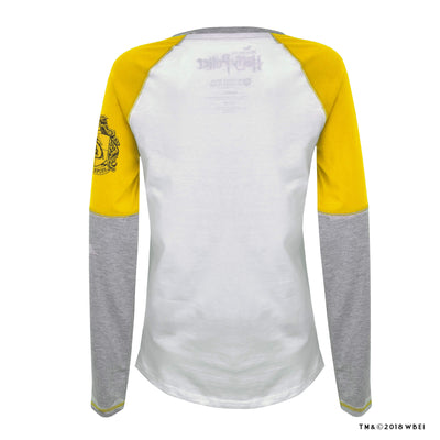 Hufflepuff Ladies Raglan Shirt back