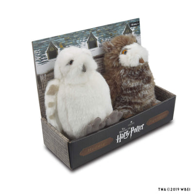 hedwig and pigwidgeon plush set in the box