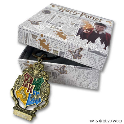 Personalised hogwarts crest keychain with box