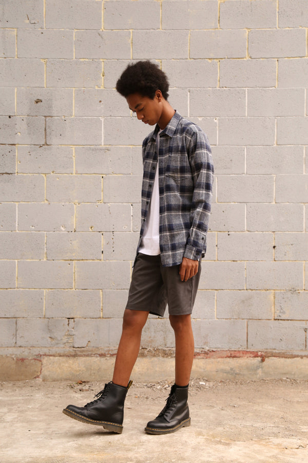 ISAAC FLANNEL SHIRT GREY