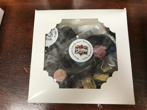 Gift Box with Retro Sweets From the 1940s