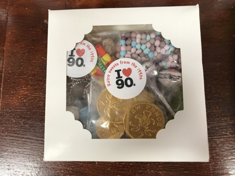 Retro Gift Box with Sweets From the 1990s