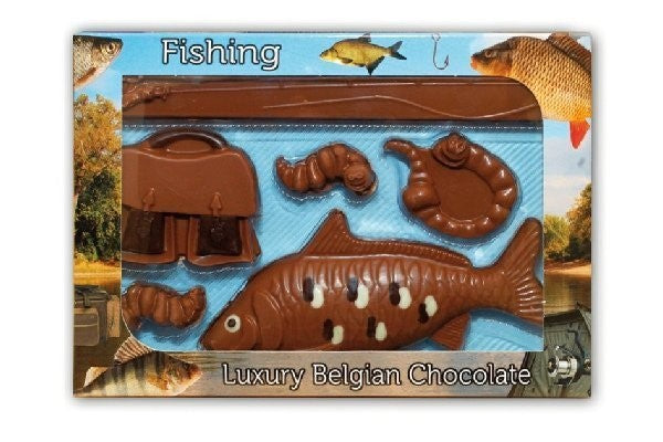 Milk Chocolate Fishing Set