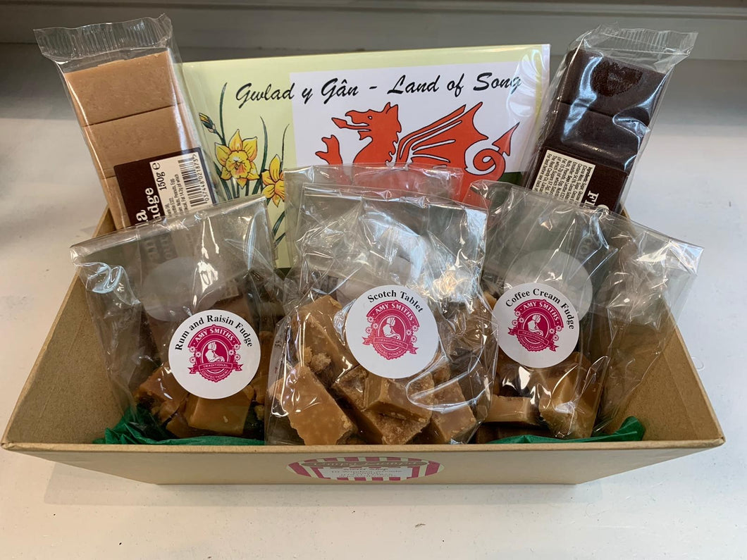 Hamper of fudge