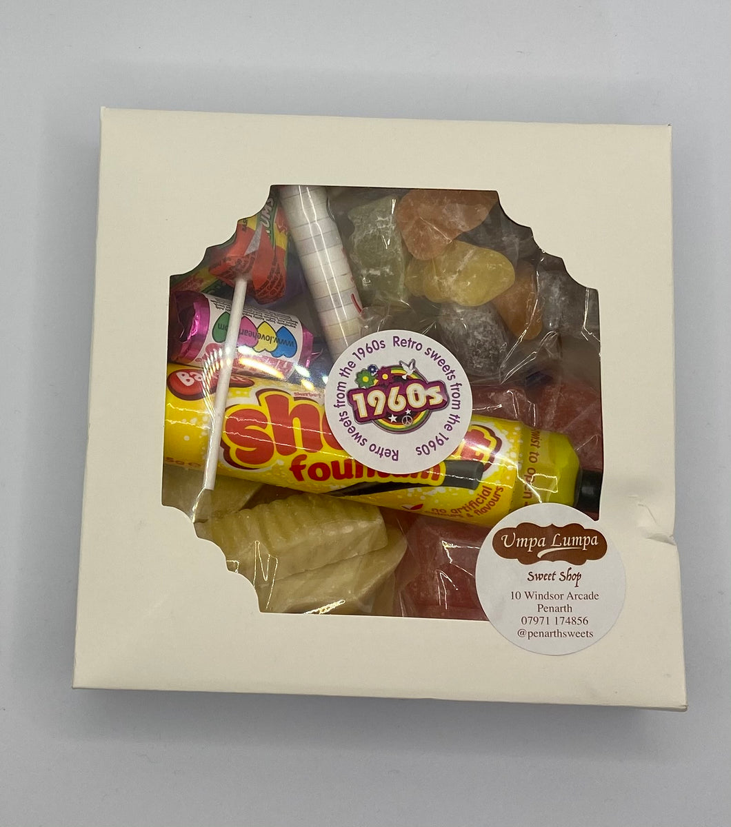 Retro Gift Box with Sweets From the 1960s