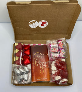 Letterbox Valentine's sweets and chocolates